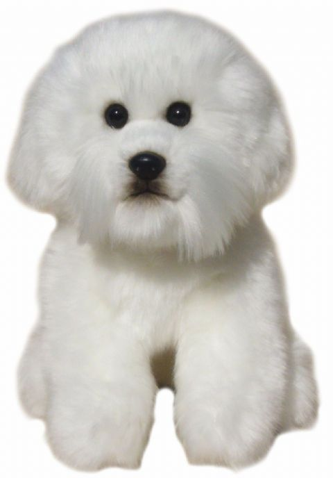 Toy Bichon Frise quality hand made Cuddly toy dog